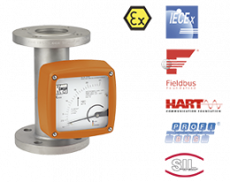 bgn-durchfluss.png: Full Metal Variable Area Flowmeter / counter BGN