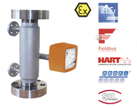 bgn-hochdruck-durchfluss.png: Full Metal Variable Area Flowmeter / counter BGN - High Pressure