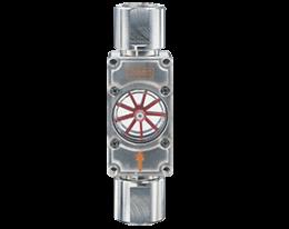 daf-1-durchfluss.png: Kijkglas met vleugelrad DAF-1