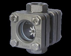 dar-1-durchfluss.png: Sight Glass with Rotor DAR-1