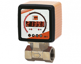 dpe-adi1-durchfluss.png: Turbine Wheel Flowmeter - Digital Display DPE with ADI