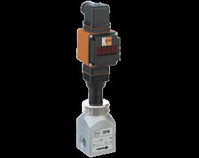 dpm-l4-auf-durchfluss.png: Rotating Vane Flowmeter - Analogue Output DPM-..L4 with AUF