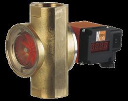 drg-auf-durchfluss.png: Rotating Vane Flowmeter - Analogue Output DRG with AUF