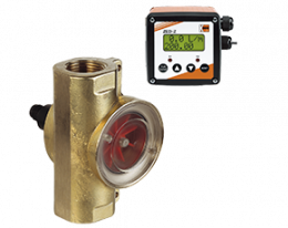 drg-zed-durchfluss.png: Rotating Vane Flowmeter - Dosing Electronic DRG with ZED