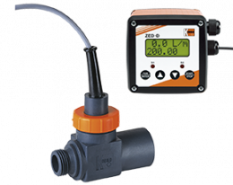 drs-zed-durchfluss.png: Turbine Wheel Flowmeter / monitor - Counter DRS with ZED