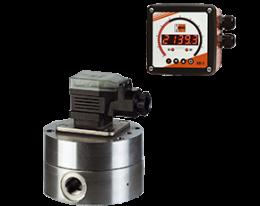 dzr-adi-1-durchfluss.png: Gear Wheel Flowmeter - Dosing Electronics DZR with ADI-1