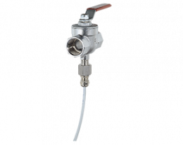 kug-s-zubehoer.png: Ball Valve with integrated Sensor Connection KUG-S