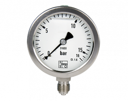 man-r-druck.png: All Stainless Steel Bourdon Tube Pressure Gauges MAN-R