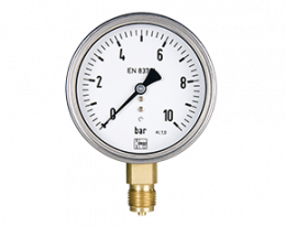 man-r-q-druck.png: Bourdon Tube Pressure Gauges MAN-R, MAN-Q
