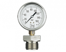 man-rd-drm-600-druck.png: All Stainless Steel Bourbon Tube Pressure Gauge with Membrane Diaphragm MAN-RF...DRM-600