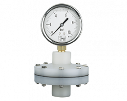 man-rd-drm-632-druck.png: Pressure Gauge with Membrane Diaphragm Seal PVDF MAN-RD..DRM-632