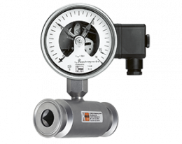 man-rf-drm-502-druck.png: All Stainless Steel Pressure Gauge with In-Line Diaphragm MAN-RF...DRM-502
