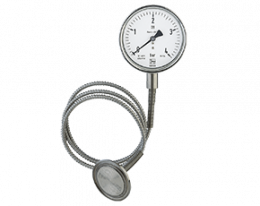 man-rf-drm-613-druck.png: Pressure Gauge with Diaphragm Seal Clamp Connection MAN-RF...DRM-613