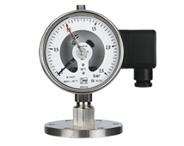 man-rf-m1-drm-628-druck.png: All Stainless Steel Pressure Gauge with All Stainless Steel Pressure Gauge with In-Line Diaphragm Diaphragm MAN-RF..M1..DRM-628