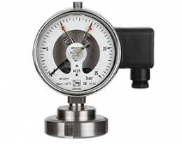 man-rf-m21-drm-602-druck.png: Contact Pressure Gauge with Membrane Diaphragm Seal DIN11851 MAN-RF...M21..DRM-602
