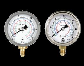 man-t-druck.png: Bourdon tube pressure gauges for refrigerants  MAN-T