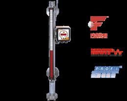 nbk-m-fuellstand.png: Mini Indicador de Nível tipo Bypass NBK-M