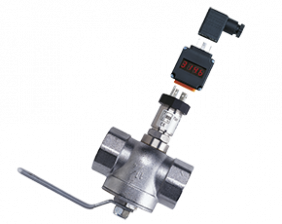 sen-86-auf-kug-s-druck.png: Pressure Sensor with Plug-on Display and Process Assembly SEN-86 with AUF, KUG-S