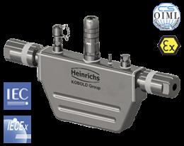 tmu-w-durchfluss.png: Coriolis Massedurchflussmesser für Wasserstoff nach OIML R139 TMU-W